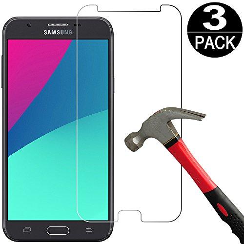[3 Packs] Samsung Galaxy J7 2017/Galaxy J7 Sky Pro/Galaxy J7 Prime/Galaxy J7 Perx/Galaxy Halo Screen Protector Tempered Glass [9H Hardness][Ultra Clear][Anti Scratch][Bubble Free]