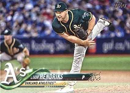 c83cc74c4 2018 Topps Baseball Series 2 367 Liam Hendriks Oakland Athletics Official  MLB Trading Card