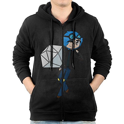 Dkoignd Casual Mens Cartoon YouTuber Diamond DanTDM Full-Zip Sweatshirt Hoodie Jacket - Downey Glasses Robert Jr