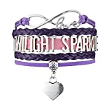 Twilight Sparkle Infinity Love Purple And PInk With Heart Charm