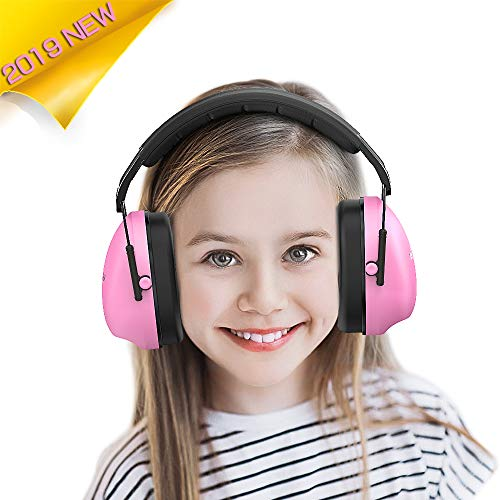 Kids Ear Protection Safety Earmuffs - Noise Reduction Hearing Protection for Kids Toddlers Children (Pink)
