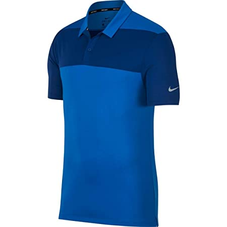Nike Dri Fit Color Block OLC Golf Polo 2018 Blue Nebula/Gym Blue ...