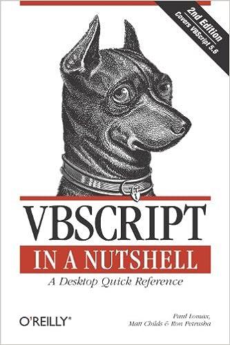 Vbscript Pocket Reference Pdf