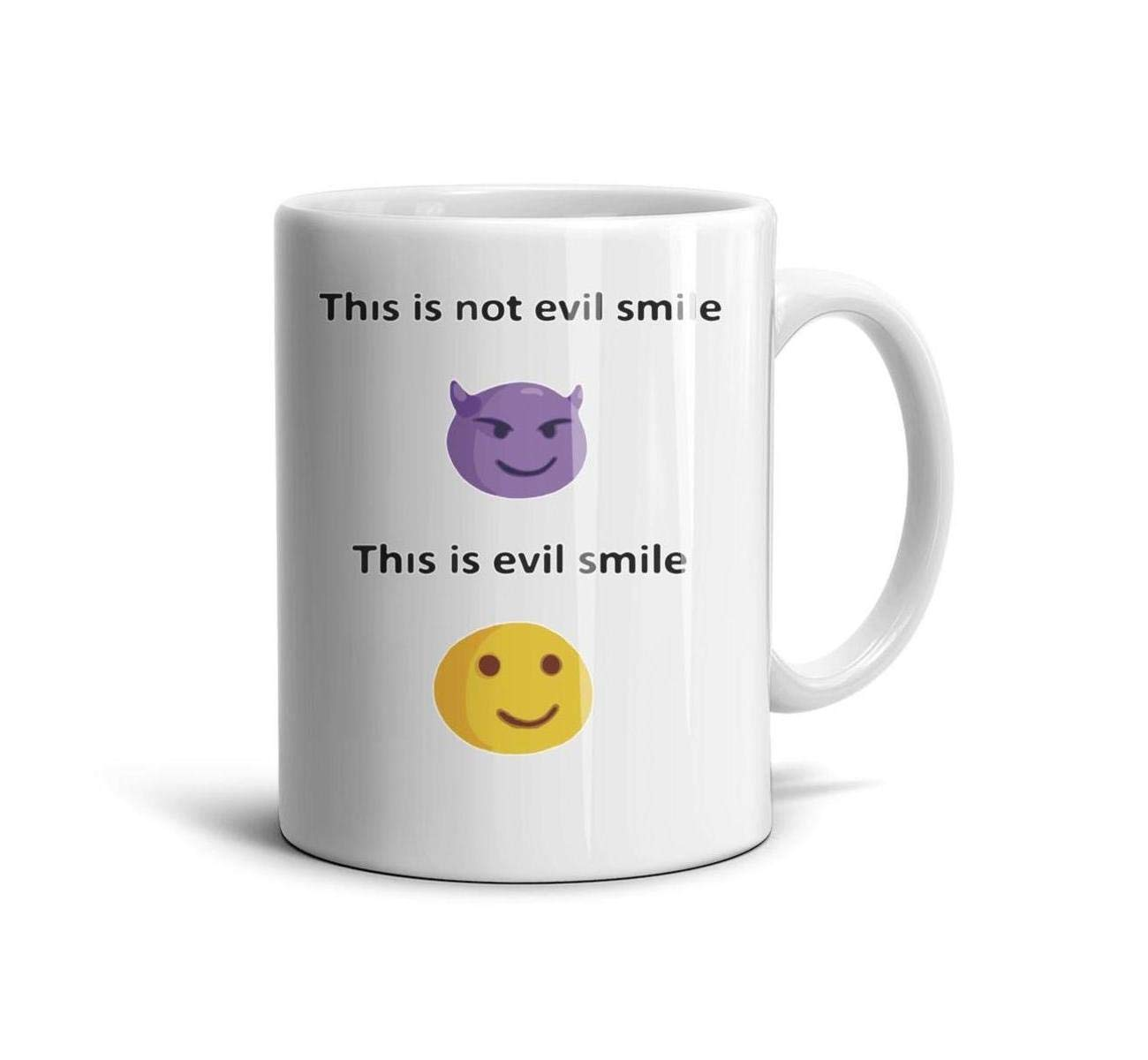 devrrssx This is NOT Evil AMILE THIE is Evil Smile Cool Coffee Mug Set Great Gift 1 Set for Office and Home for sonMaximum Capacity 13.5oz