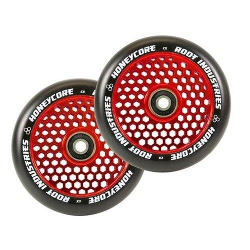 Root Industries Honeycore 110mm Wheels Red/Black (Pair)