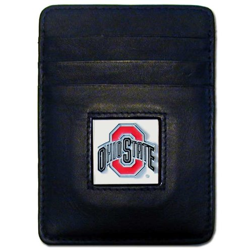 NCAA Ohio State Buckeyes Leather Money Clip/Cardholder Wallet