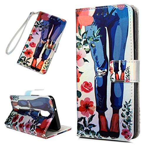 Price comparison product image LG Stylo 4 Case,  LG Stylus 4 Case,  LG Stylo 4 Plus Wallet Case 3D Painting Leather Cover Kickstand Multi Card Slot Shock Absorption Bumper Magnetic Closure Protective Shell Skin for LG Stylo 4