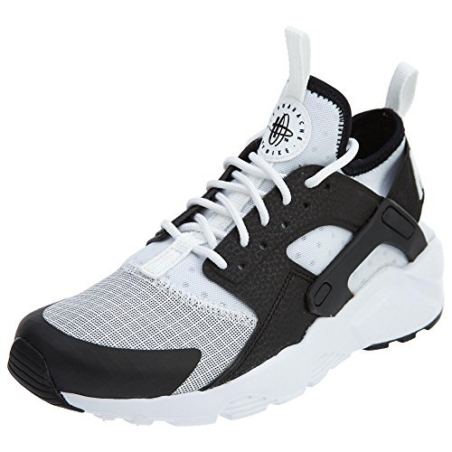 NIKE Huarache Run Ultra White/Black (Little Kid) (1Y) by NIKE