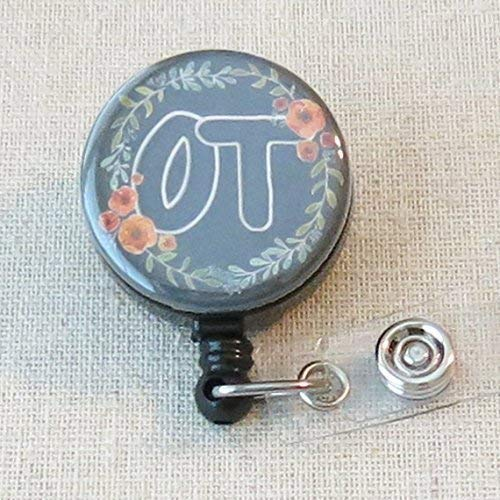 Lanyard Gift - OT Badge Holder, Occupational Therapist Gifts, OT Therapist Student Graduation Gift, OT Thank You Gift for Therapist- Retractable ID Badge Reel With Swivel Pinch Clip, Occupational Therapy Month