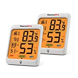 ThermoPro TP53 2 Pieces Hygrometer Humidity Gauge