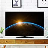 aolankaili Front Flip Top The Solar Cosmos on The Earth's Surface Front Flip Top W25 x H45 INCH/TV 47''-50''