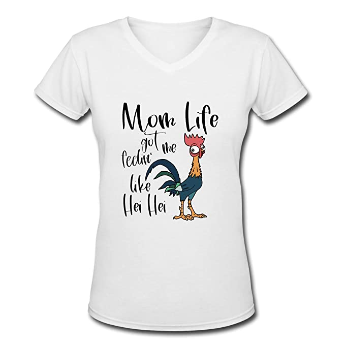 35a4edad Amazon.com: Mom Life Got Me Feelin Like HEI HEI Women's V-Neck Short Sleeve  T-Shirts: Clothing