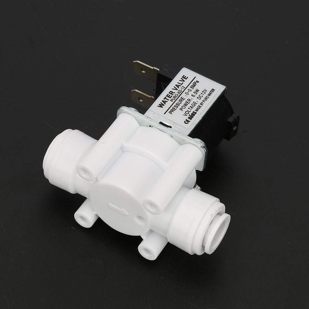 Water Solenoid Valve DC 12V DC Plastic Electric Solenoid Valve Water Valve Quick Connect Normally Close Suitable for 3//8 Pipes