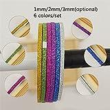 6Pcs/set 1mm/2mm/3mm Nail Striping Tape Line DIY Nail Art Adhesive Decal Nail Decoration Styling Tool
