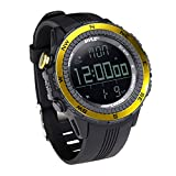 Pyle-Sport PSWWM82YL Digital Multifunction Sports Watch with Altimeter/Barometer/Chronograph/Compass and Weather Forecast, Yellow