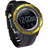 Pyle PSWWM82YL Digital Multifunction Sports Watch with Altimeter/Barometer/Chronograph/Compass and Weather Forecast (Yellow)