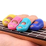 Bestpriceam 4 In 1 Guitar Fingertip Protectors Silicone Finger Guards For Ukulele
