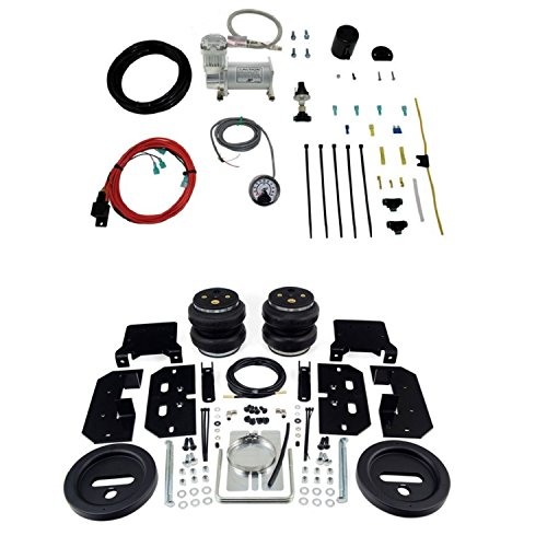 Air Lift 57595 25854 Rear Set of Load Lifter 7500XL Series Air Springs with Load Controller Single Path On-Board Air Compressor System Bundle for Ram Dodge