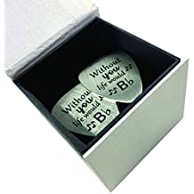 Engraved Metal Guitar Picks - With Quote For Loved One - Perfect Gift For Music Lover Boyfriend/Girlfriend/Husband/Wife/Father/Brother - Make Loved One Feel Special On Any Occasion