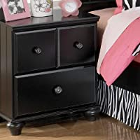 Jaidyn Black Two Drawer Night Stand by Ashley Furniture
