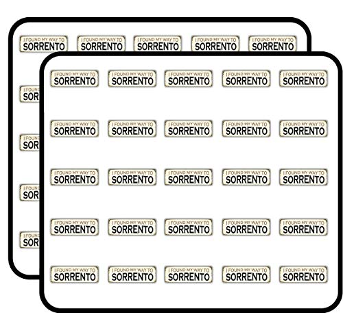 (Sorrento Retro Travel Tin Sign Art Decor Sticker for Scrapbooking, Calendars, Arts, Kids DIY Crafts, Album, Bullet Journals 50 Pack)