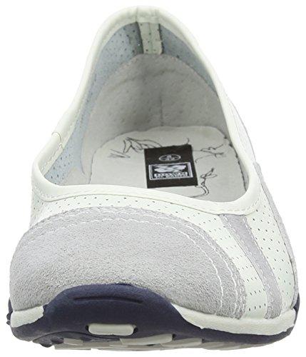 Spot On F8991, Bailarinas para Mujer Blanco (White)