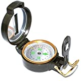 Braudel Multifunction Military Lensatic Compass,Lightweigh,Foldable,Hiking Sighting Compass