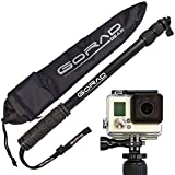 GoRad Gear Selfie Stick for GoPro Hero Cameras, Waterproof, Pole Extends 17-40 Inches, Aluminum Tripod Mount and Thumb Screw, Nylon Carry Bag (black) (Electronics)