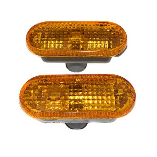 - 2Pcs Fender Yellow Side Repeater Light Lamp Lens Driver or Passenger For VW Passat Golf Jetta