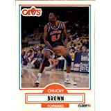 1990 Fleer Update Basketball Rookie Card (1990-91) #U16 Chucky Brown Near Mint/Mint