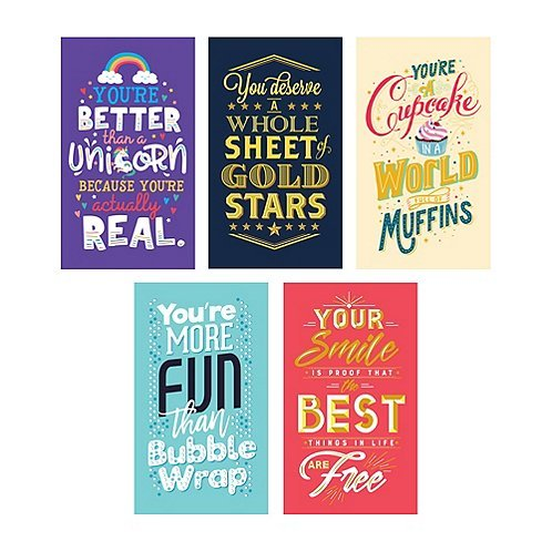 Motivational Compliment Cards - Clever Cheer Theme - You're Better Than Unicorns - Employee Appreciation Gifts - 25 Pack