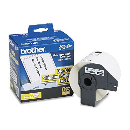Brother Die-Cut Shipping Labels, 2.4' x 3.9', White, 300/Roll