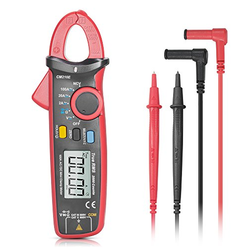 SYNERKY CM210E Digital Clamp Meter 2000 Counts TRUE RMS NCV AC/DC Voltage Auto Range AC/DC Current Multimeter Continuity Capacitance Resistance Diode Hz Tester with LCD Backlight and Auto (Auto Range)