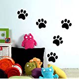 Wall Decor Stickers,Mee 5 Bear Paw Prints Children's Room Bedroom Home Decorative Wall Stickers Nursery Classroom