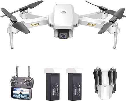 Opinión sobre GoolRC CSJ S161 Mini Drone Pro con Cámara 4K Posicionamiento de Flujo óptico Cámara Dual Altitud Hold Gesto Fotos Video 3D FILP Track Flight RC Quadcopter Bolsa de Almacenamiento(2 Batería)