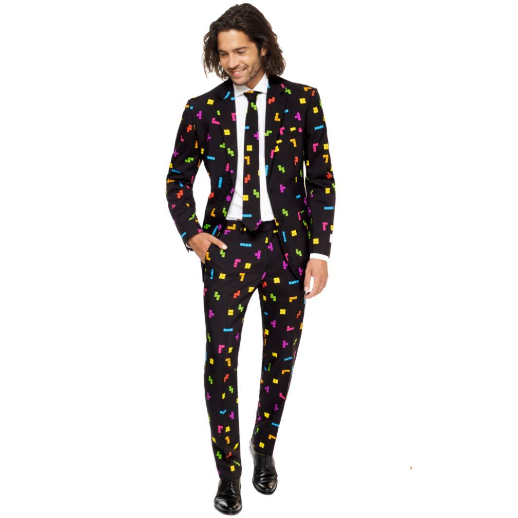 Opposuits Abschlussball kostüme für Herren - Mit Jackett, Hose und Krawatte mit Festlichen Print B076PT5VLK Kostüme für Erwachsene Genialität     | Genialität