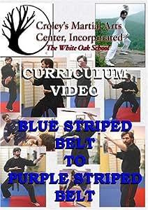 Blue Striped Belt to Purple Striped Belt