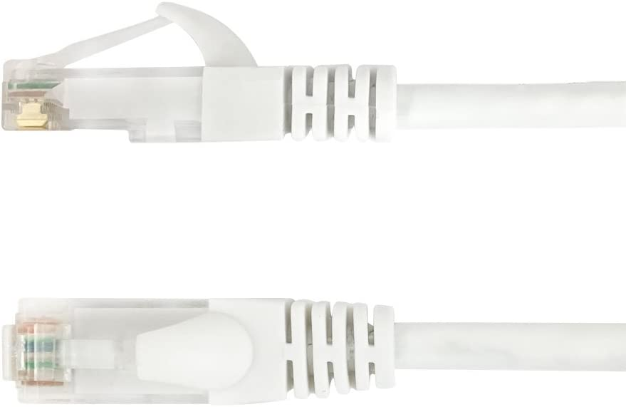 White 75ft Cat6a UTP 10GB Molded Patch Cable