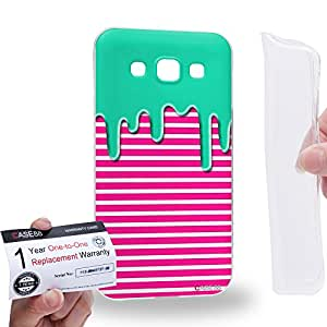 Case88 [Samsung Galaxy E5] Gel TPU Carcasa/Funda & Tarjeta de garantía - Art Fashion Melting Stripe Pattern Art1234
