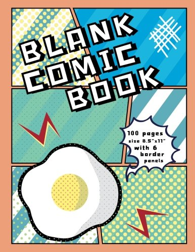 """Blank Comic Book: Blank Graphic Novel For Creating Your Own Creativity Ideas By Your Comic Drawing, 100 Pages, 8.5"""" X 11"""" Size (Blank Comic Book For U) (Volume 4)"""