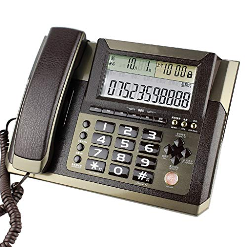 DR  Phone Wired landline high-Definition Sound Quality Home landline Office landline Brown Telephone
