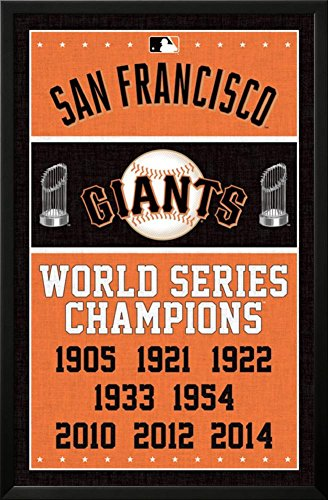 Giant Framed Poster (San Francisco Giants - Champions Lamina Framed Poster - 23.75 x 35.75in.)