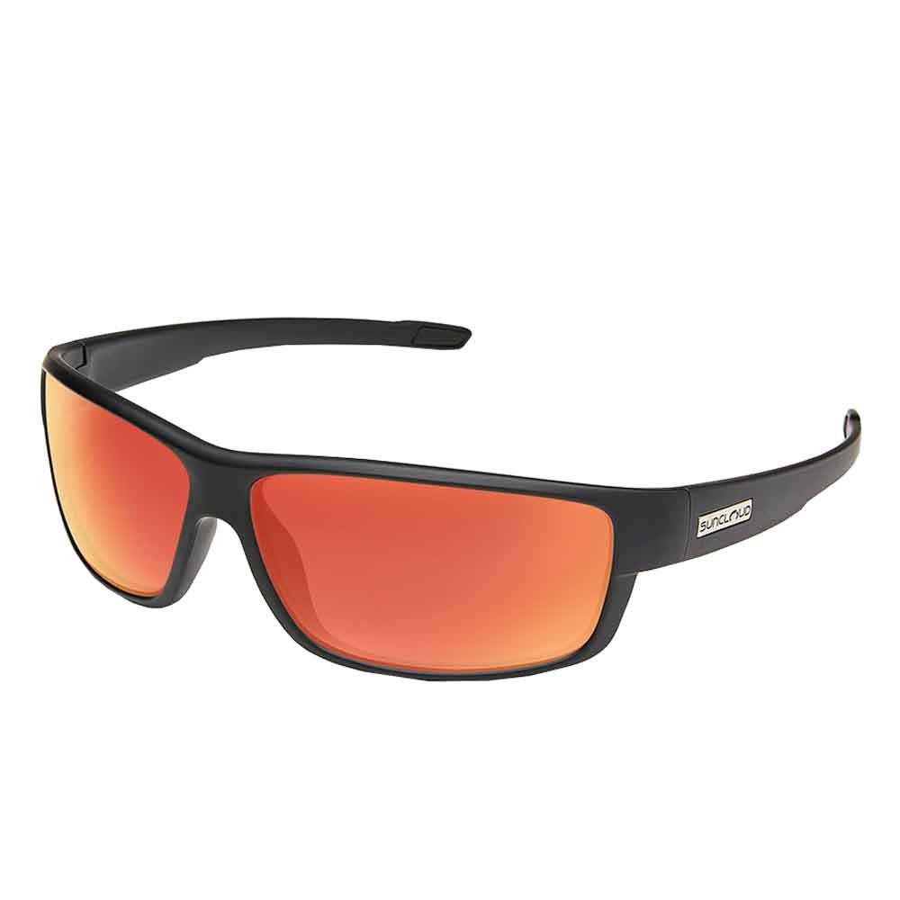Suncloud Voucher Polarized Sunglasses, Matte Black, Red Mirror by Suncloud