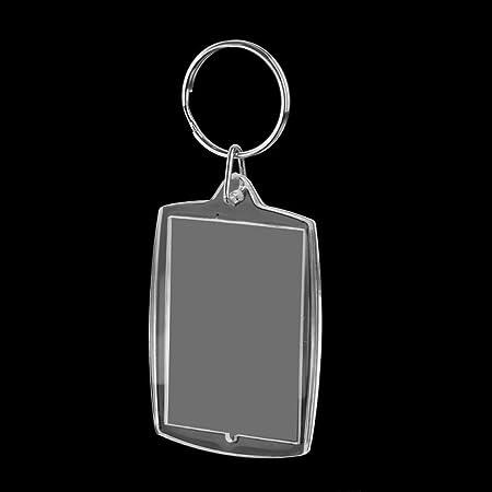 Tinksky 10pcs 4 * 5.6 cm rectángulo en Blanco Insertar Llavero Foto Foto Marco Llavero: Amazon.es: Equipaje