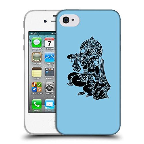 GoGoMobile Coque de Protection TPU Silicone Case pour // Q08140609 Hindou 5 Bébé bleu // Apple iPhone 4 4S 4G