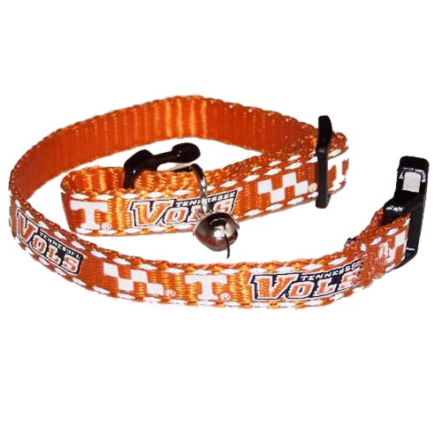 Pet Goods Collegiate 3/8-Inch Cat Safety Collar, University of Tennessee