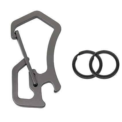 Amazon.com: GOODOOR - 2 mosquetones de llavero de acero ...