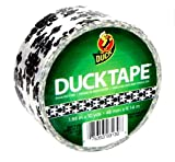"Duck Brand 1-88 Baroque Damask Printed Duct Tape, 10 yards Length x 1-7/8"" Width, White/Black"
