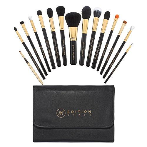 Makeup Brush Set 15 Pieces Best Premium Synthetic Kit Professional Powder Foundation Blending Buffing Contour Eyeshadow Concealer Eyeliner Lip Brushes Make Up Bag Cosmetic Organizer Holder Case