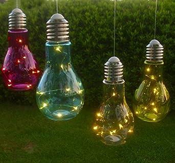 4er Set Led Lampen Gluhbirne 4 Farben Gartendeko Garten Lichterkette